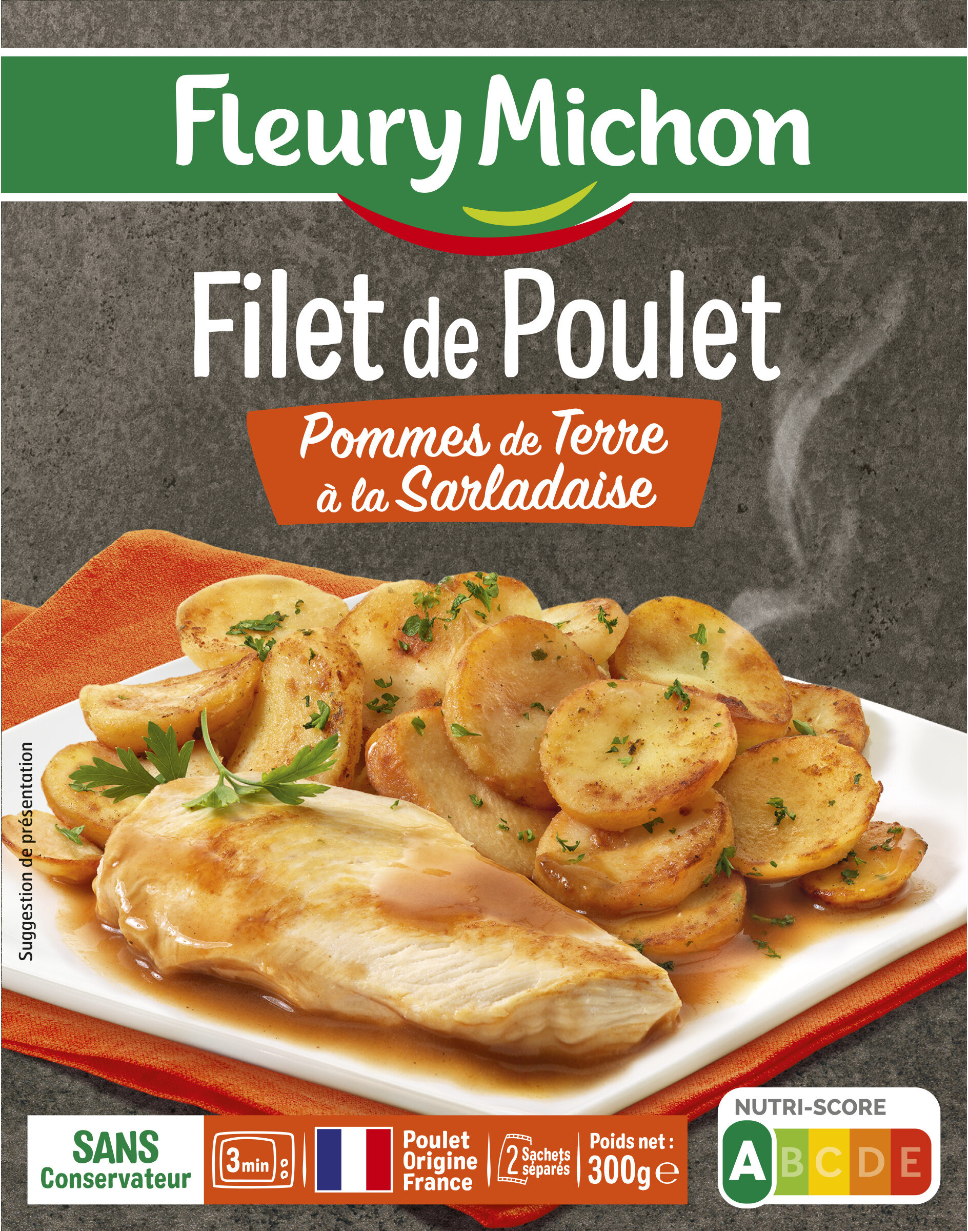 Filet de Poulet Pommes de Terre à la Sarladaise - Product - fr