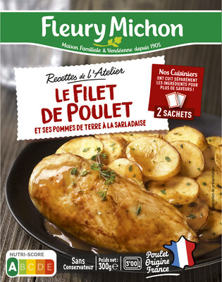 Le Filet de Poulet et ses Pommes de Terre à la Sarladaise - Prodotto - fr