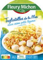 Tagliatelles de la mer, sauce crème, petits légumes - Produit - fr