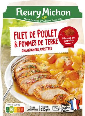 Filet de poulet & pommes de terre, champignons, carottes - Product - fr