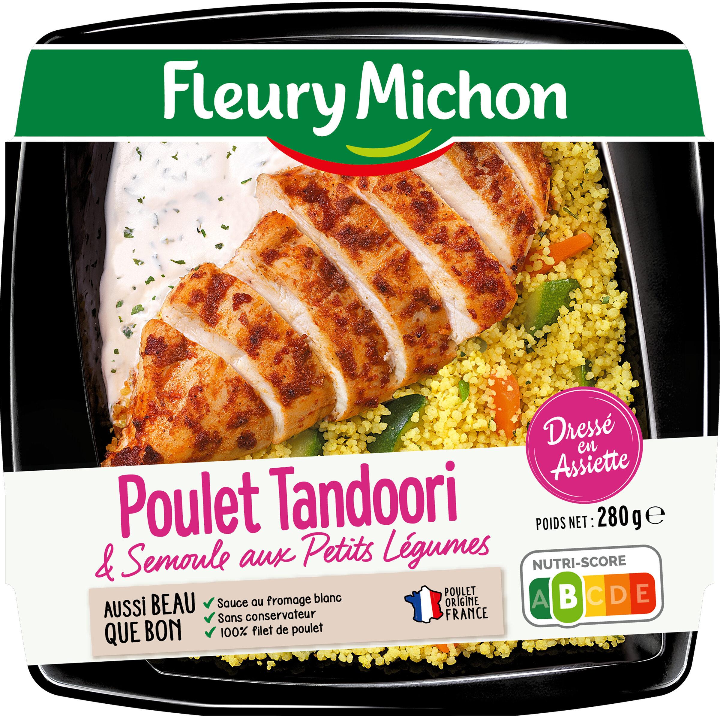 Poulet tandoori et semoule aux petits légumes - Produit - fr