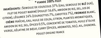 Poulet tandoori et semoule aux petits légumes - Ingrédients - fr