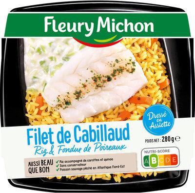 Filet de cabillaud riz & fondue de poireaux - Product - fr