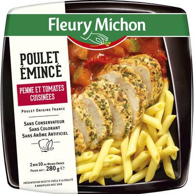 Poulet émincé penne et tomates cuisinées - Produit - fr