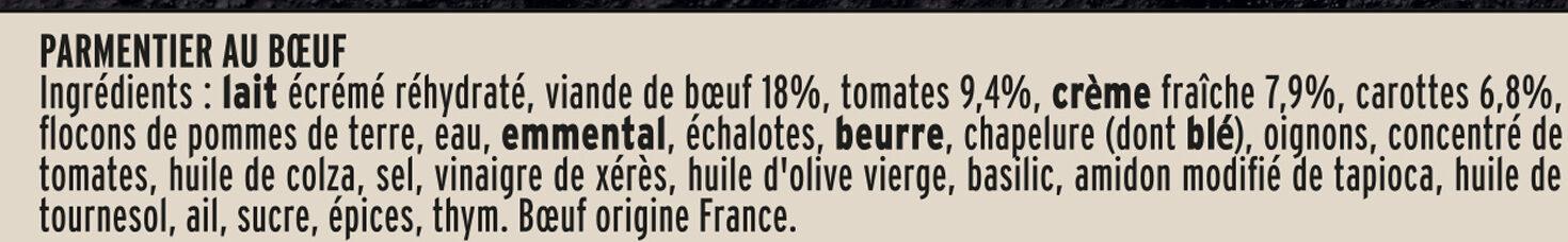 Le parmentier de boeuf Limousin - Ingrédients - fr