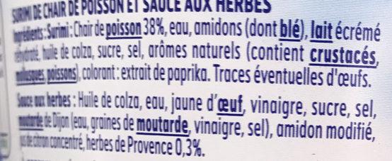 Le Batonnet Moelleux avec 1 sauce aux herbes - Ingrédients - fr