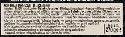Les Saint-Jacques au Noilly et riz safrané - Ingredients