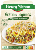 Gratin de Légumes Mozzarella et Boulgour - Product