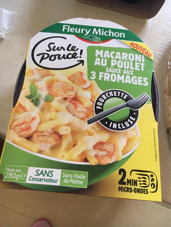 Macaroni au poulet sauce aux 3 fromages - Product - fr