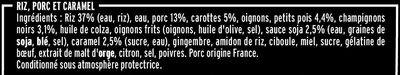 Porc au caramel & riz parfumé - Ingredienti - fr