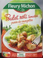 Poulet roti tomates puree de courgettes - Produit - fr