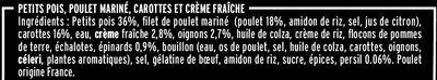 Poulet émincé petits pois & crémeux de carottes - Ingrédients - fr