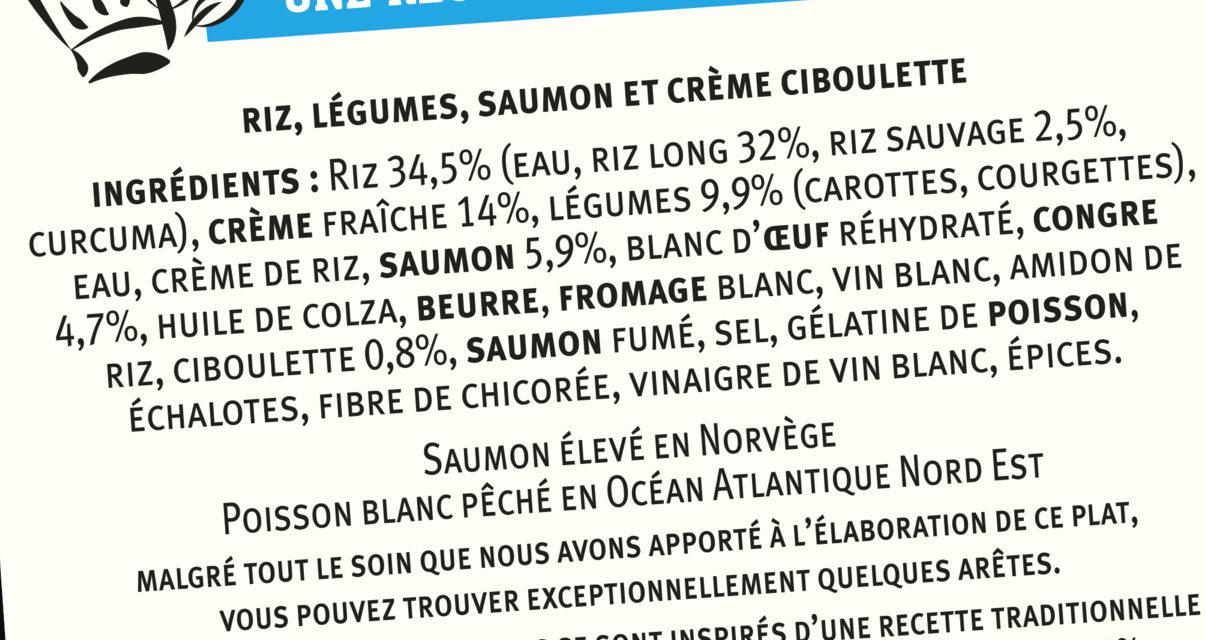 Mousse de Saumon, riz aux légumes, crème ciboulette - Ingredients - fr