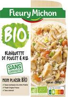 Blanquette de poulet & riz - Produit - fr