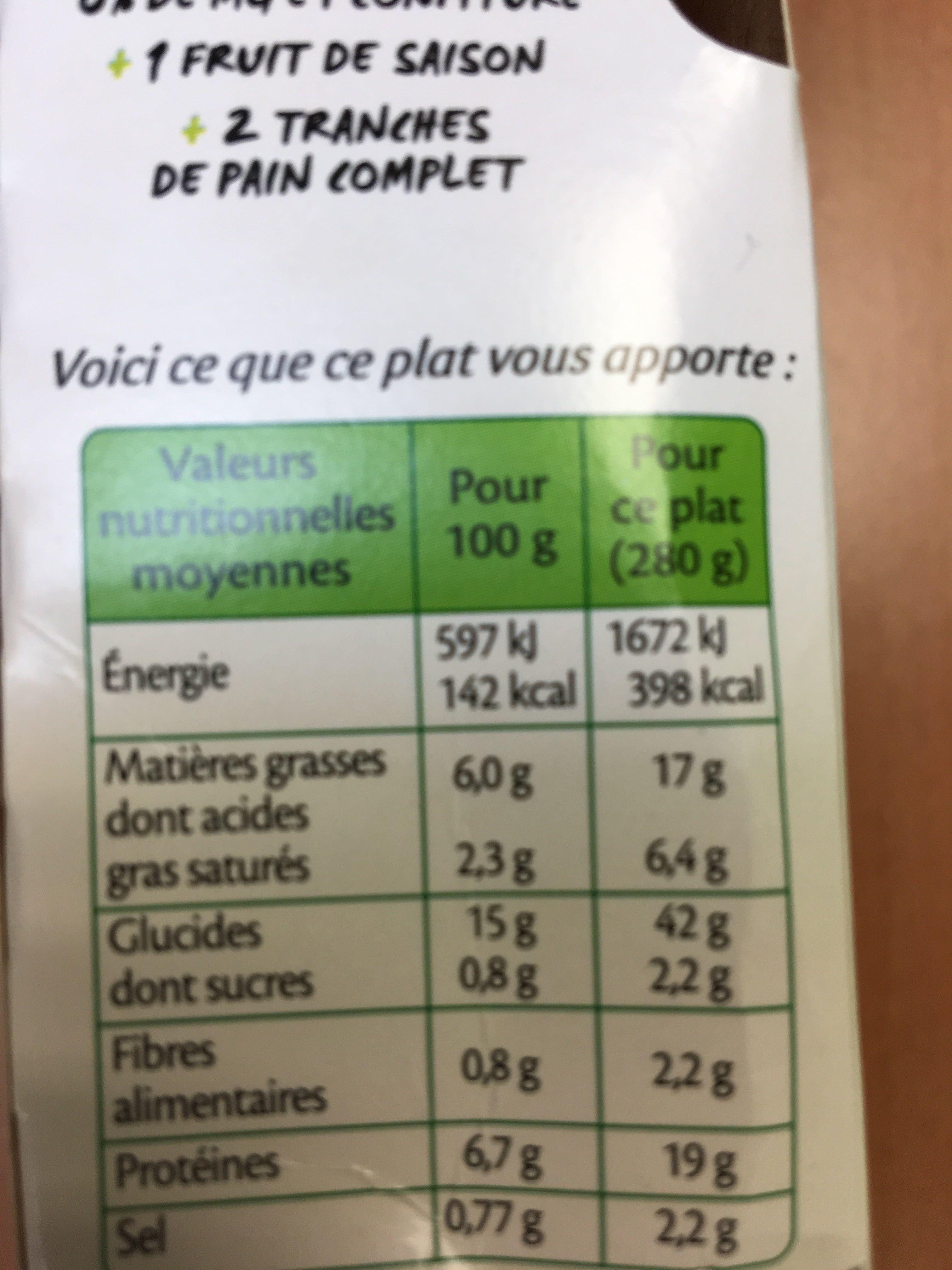 Blanquette de poulet & riz - Informations nutritionnelles - fr