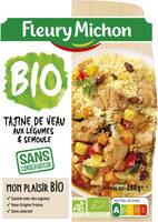 Tajine de veau aux légumes & semoule - Produit - fr