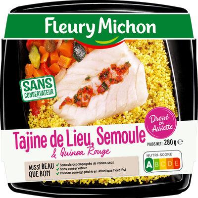 Tajine de lieu & quinoa rouge, semoule - Product