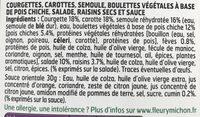 SALAD JAR - L'Orientale - Falafels, semoule, courgettes, carottes, raisins secs, sauce épice douce - Ingrediënten - fr
