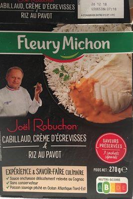 Cabillaud, crème d'écrevisses, riz au pavot - Product