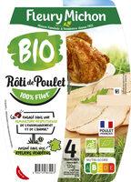 Le Rôti de poulet, Bio - 4 tranches - Produit - fr