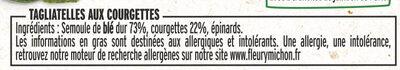 Tagliatelles aux courgettes - Ingrédients - fr