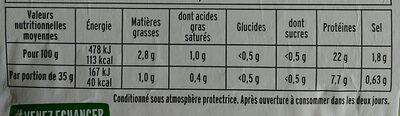 Le Supérieur cuit à l'étouffée -  2tr - Voedingswaarden - fr