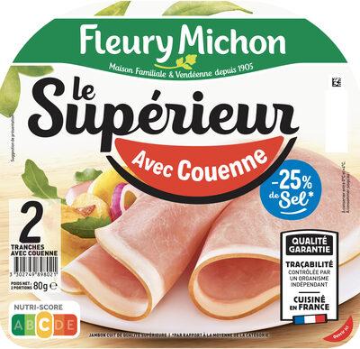 Le Supérieur - avec Couenne -25% de sel* - Produkt - fr