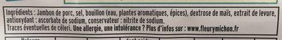 Le supérieur avec couenne -25% de sel* - 2tr. - Ingrédients