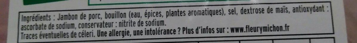 Le supérieur seulement 2% MG - 25% de sel* -2tr - Ingrediënten - fr