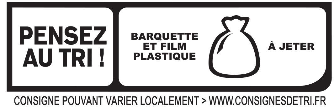 Le Supérieur - Seulement 2% Mat. Gr. - 25% de sel* - Recyclinginstructies en / of verpakkingsinformatie - fr