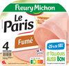 Le Paris fumé - 25% de sel* - 4 tr. - Produit
