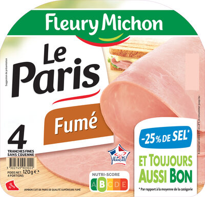 Le Paris fumé - 25% de sel* - 4 tr. - Product - fr