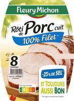Rôti de porc cuit 100 % filet** -25% de sel*- 8 tr - Product - fr