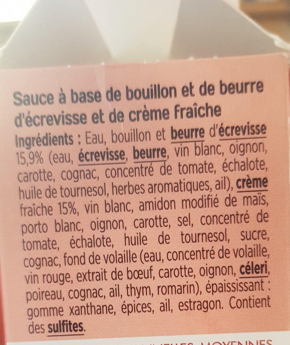 Sauce - Ingrédients