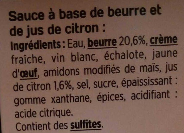L'authentique Sauce N°9 hollandaise - Ingrédients - fr