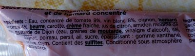Sauce armoricaine - Ingrédients
