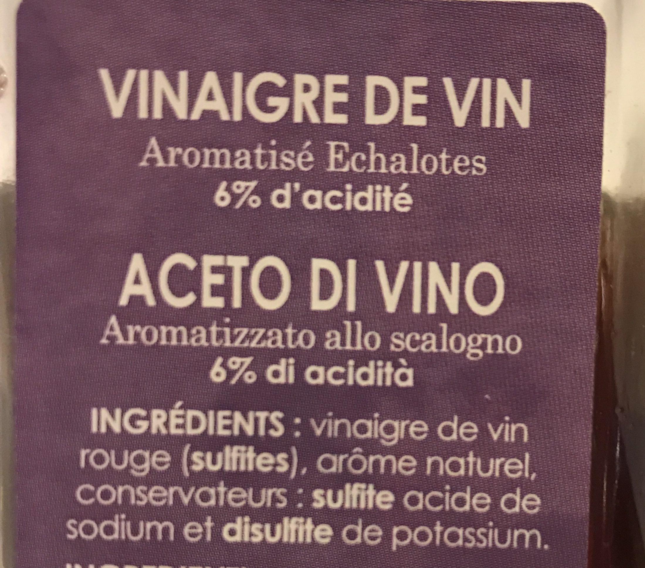 Vinaigre de vin - Ingredients - fr