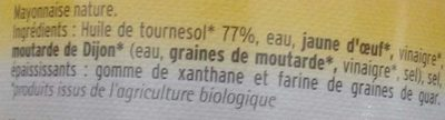 Mayonnaise Nature - Ingredients - fr