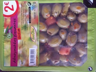 Olives dénoyautées piquantes - 1