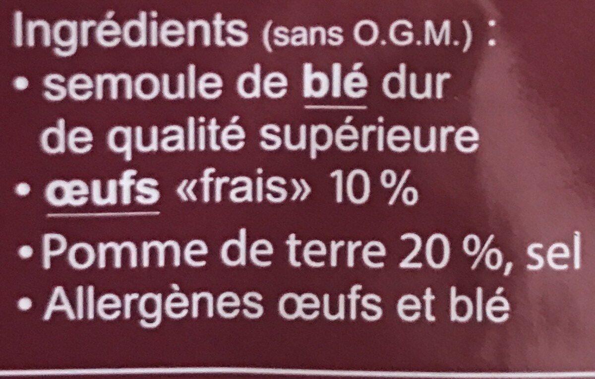 Shupfnuedle - Ingrédients - fr