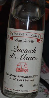 Eau de Vie Quetsch d'Alsace - Produit - fr