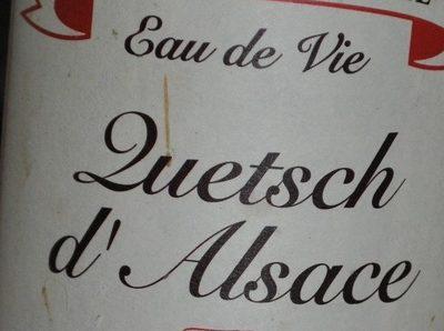 Eau de Vie Quetsch d'Alsace - Ingrédients - fr