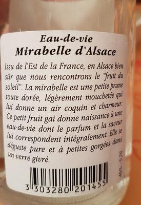 Eau de vie - Mirabelle d'Alsace - Product - fr