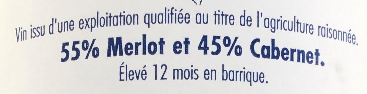 Haut Médoc 2012 - Ingrediënten - fr