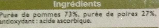 Purée de pomme poire - Inhaltsstoffe - fr