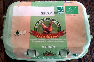 6 oeufs biologiques - Product