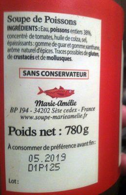 Soupe de poissons à la Sétoise - Produit - fr