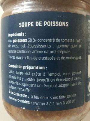 Soupe de poisson à la Méditerranéenne - Ingrédients - fr