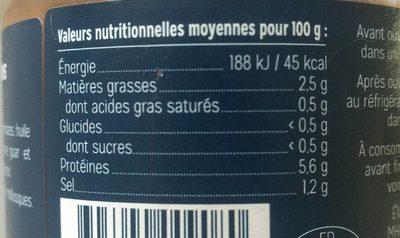 Soupe de poisson à la Méditerranéenne - Informations nutritionnelles - fr