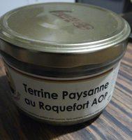 Terrine paysanne au roquefort AOP - Produit